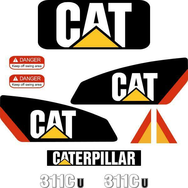 Details about cat 311c u decals stickers repro decal kit