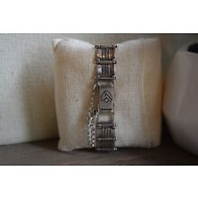 T1749 Silpada Sterling Watch w/safety chain