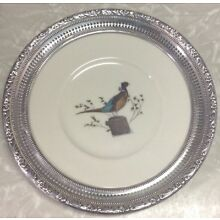 Frank M. Whiting Sterling Hand Colored By Puleston Pheasant Plate LOOK!!👀