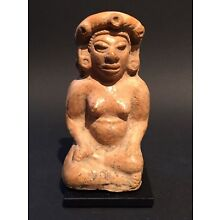 Mayan Seated Pregnant Royal~   Pre-Colombian 600 AD - 900 AD