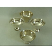 Four Silverplate Small Bowls