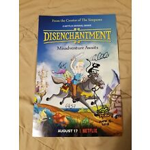 SDCC 2018 EXCLUSIVE SIGNED SKETCHED DISENCHANTMENT POSTER MATT GROENING NETFLIX