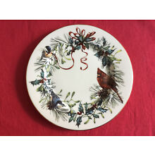 Lenox Winter Greetings dinner plate fine china Gold rim mint condition,4 avail