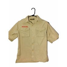 Official Boy Scouts of America Tan Uniform Shirt Youth Large BSA