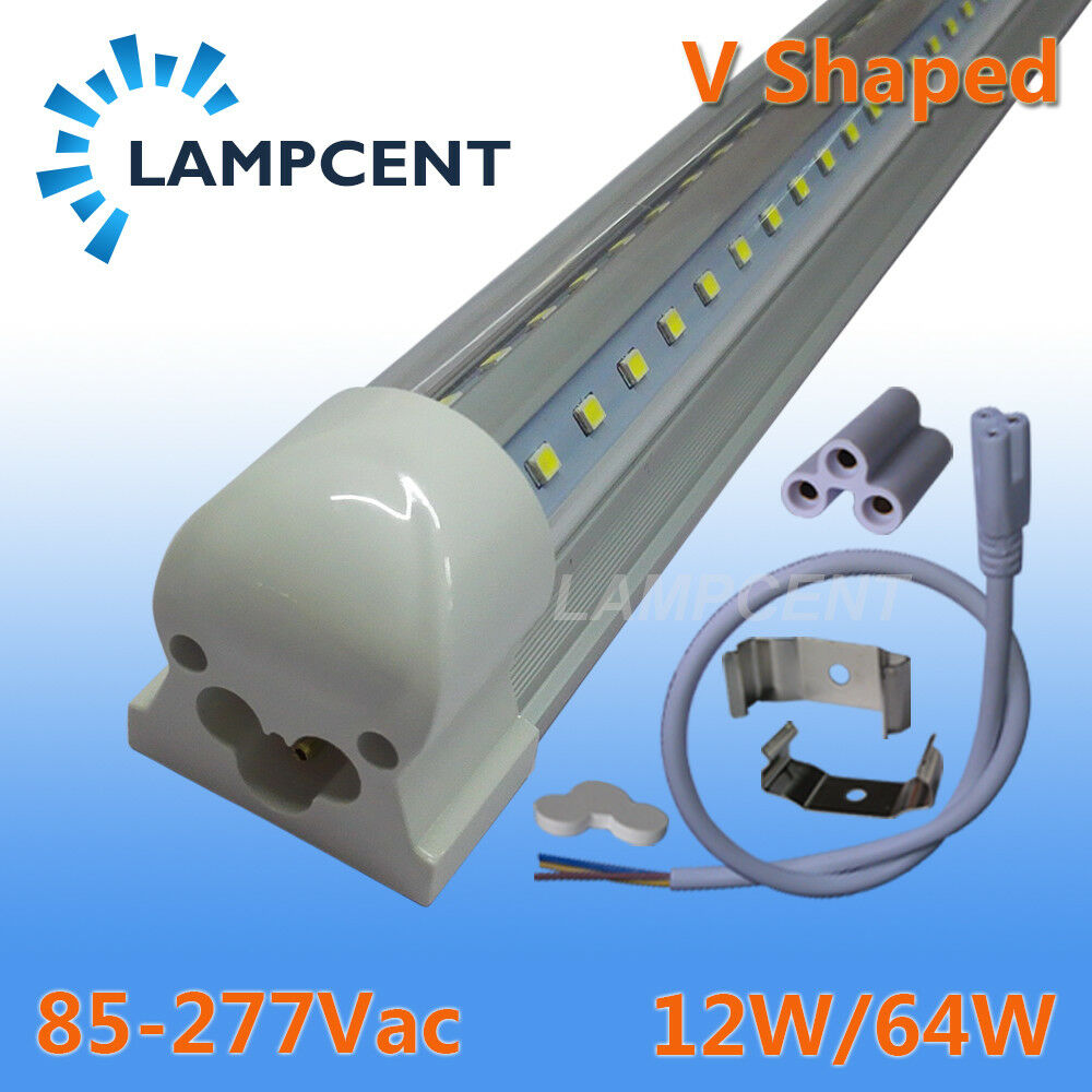 T8 Light Fixture 2ft: 2PCS 2FT.3FT.4FT.5FT.6FT.8FT V Shaped LED Tube T8