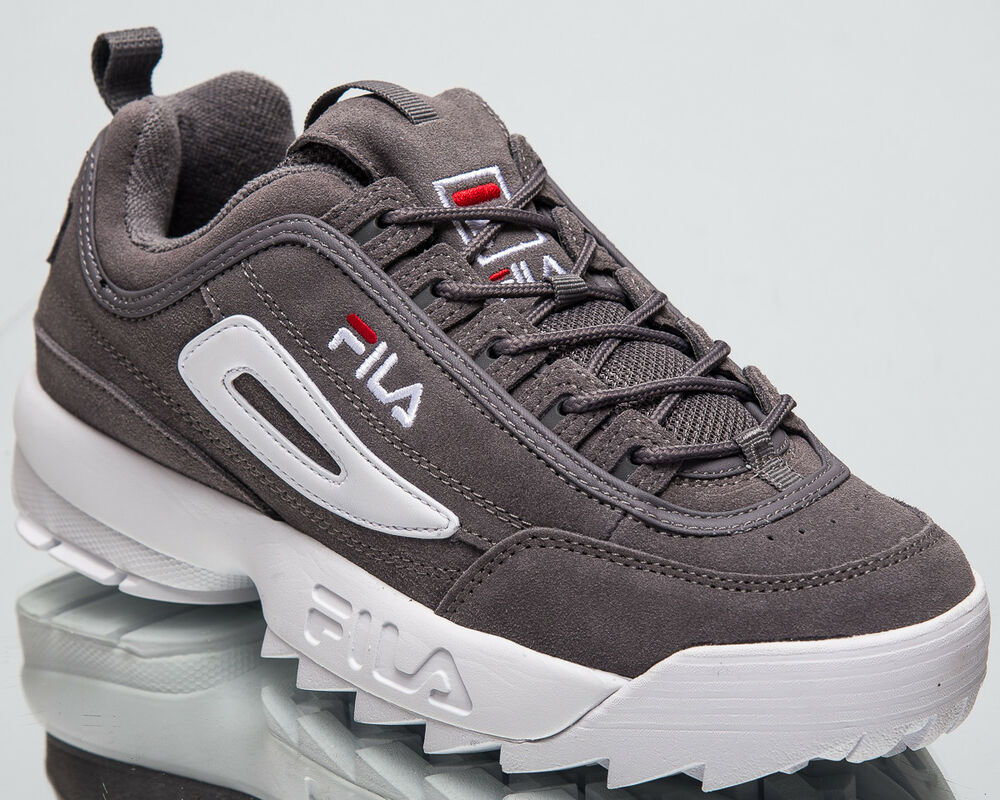 3bf00550f206 Details about Fila Disruptor S Low Monument Grey Men s Lifestyle Shoes New  White 1010490-6QW