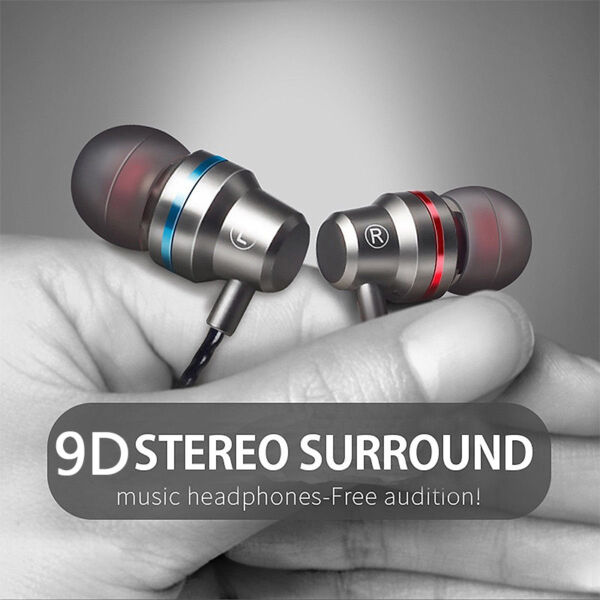 Super Bass Headset 3.5mm In-Ear Earphone Stereo Earbuds Headphone with Wired Mic
