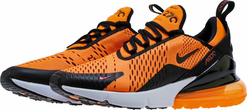 buy popular 42628 04ba6 Details about  BV2517-800  MEN S NIKE AIR MAX 270 RUNNING SHOES TOTAL ORANGE  BLACK WHITE  NEW