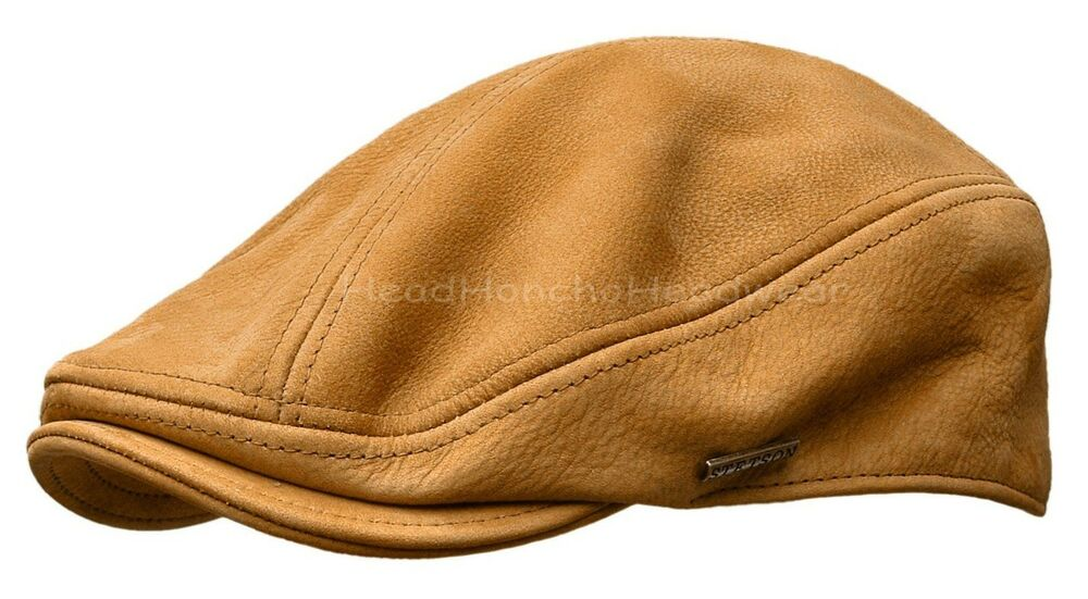 Details about STETSON TAN Leather IVY Cap Gatsby Men Newsboy Hat Golf Flat  Driving s m l xl 31168fd06