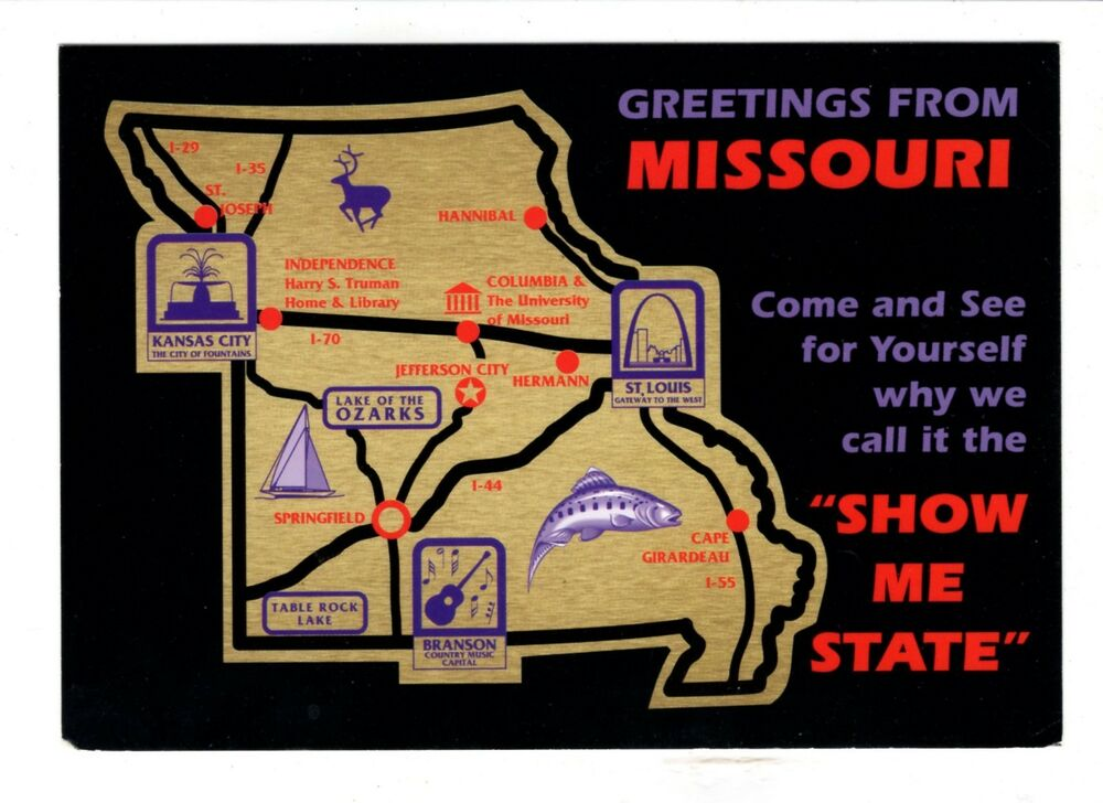 Missouri Fun Attractions Map Vintage 4\