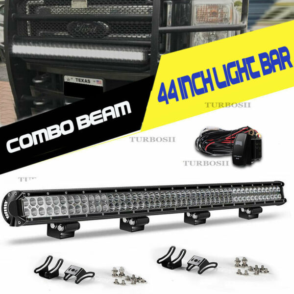 Offroad 700W 50inch LED Light Bar Curved Flood Spot Combo Truck Roof Driving 52