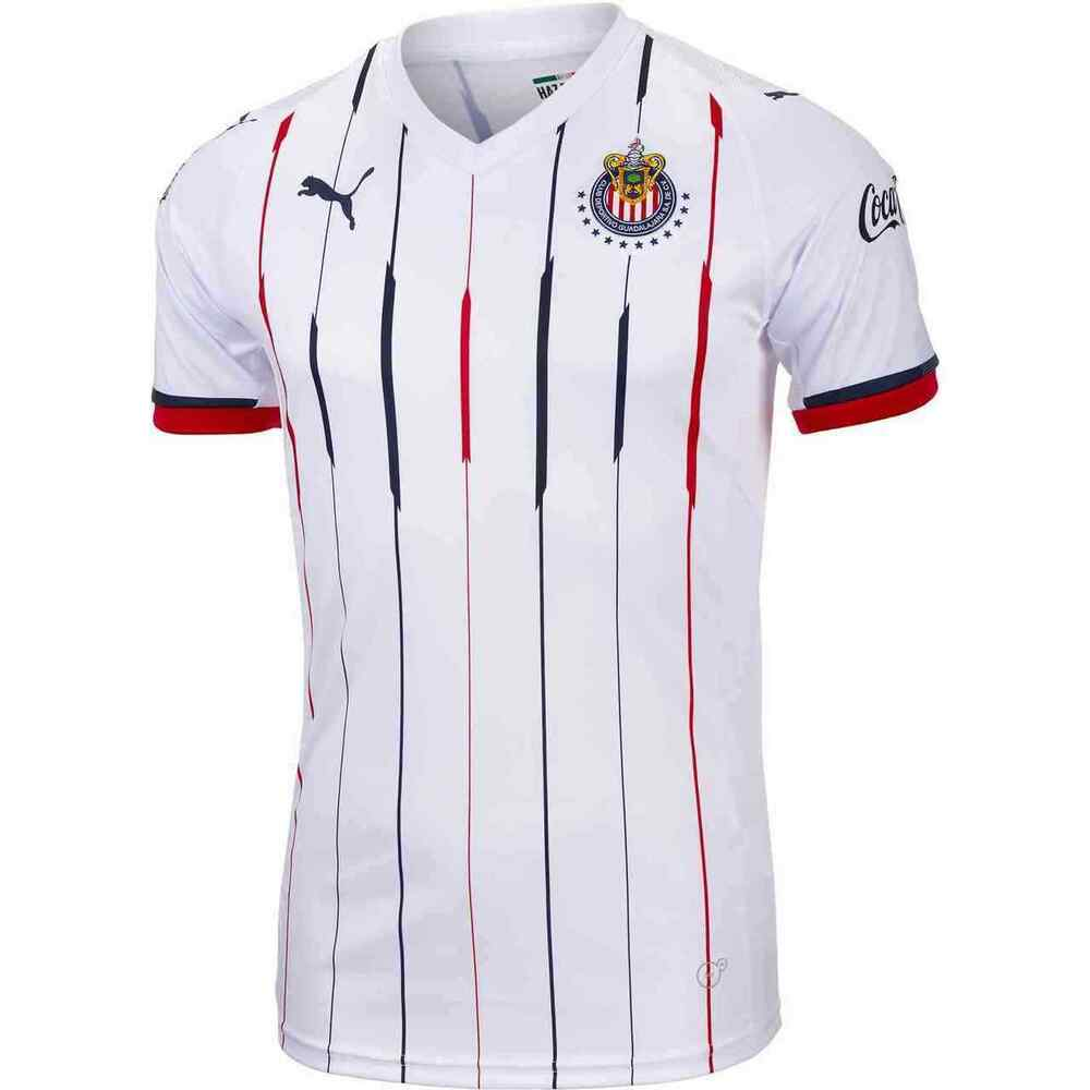 56005438f Details about Puma Men s 2018 19 Chivas Away Soccer Jersey (XL)  (White Red Navy) 703882 01