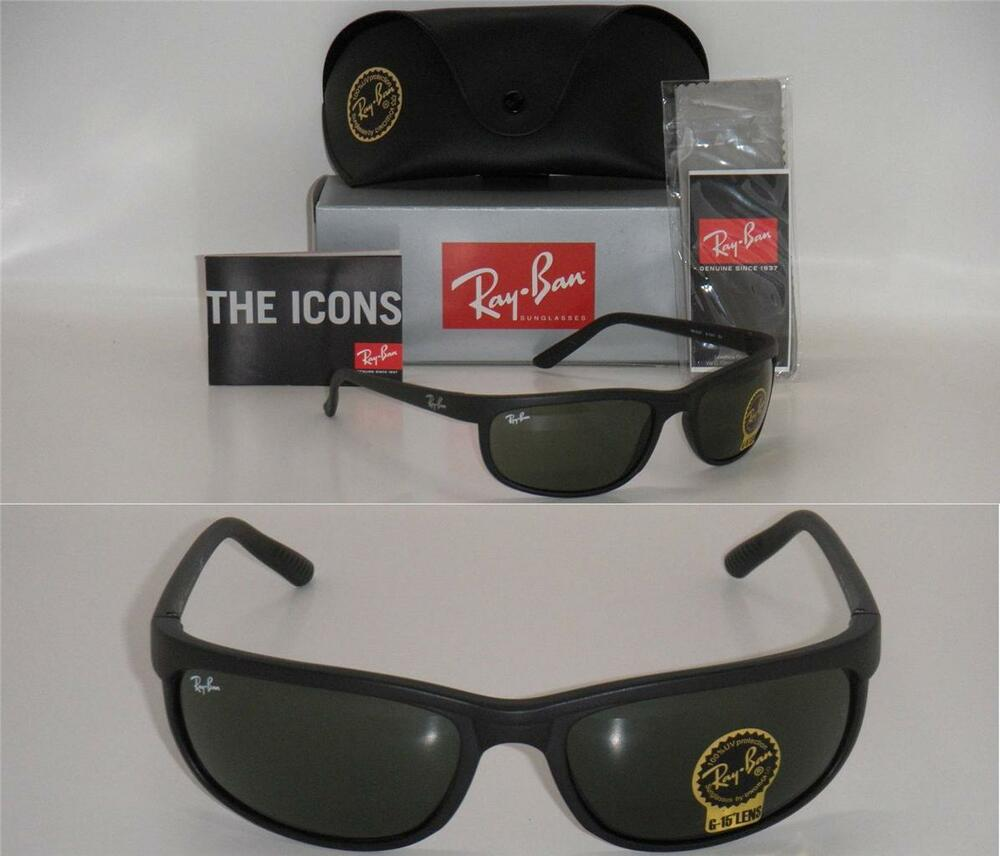 c0e7b57dae Details about Ray-Ban 2027 RB 2027 W1847 62mm Predator 2 matte black with  Green G-15XLT lenses
