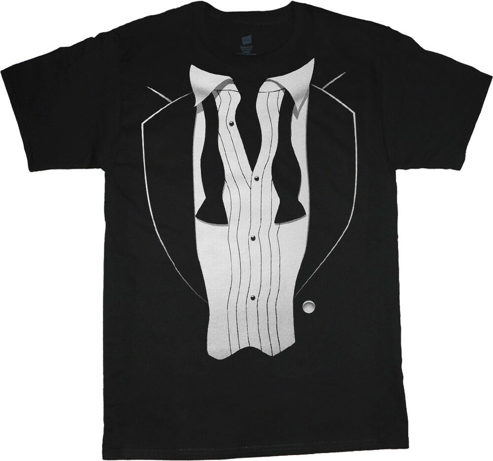 Tuxedo T Shirt Mens Graphic Tee Loose Tie Tux Funny Decal Design