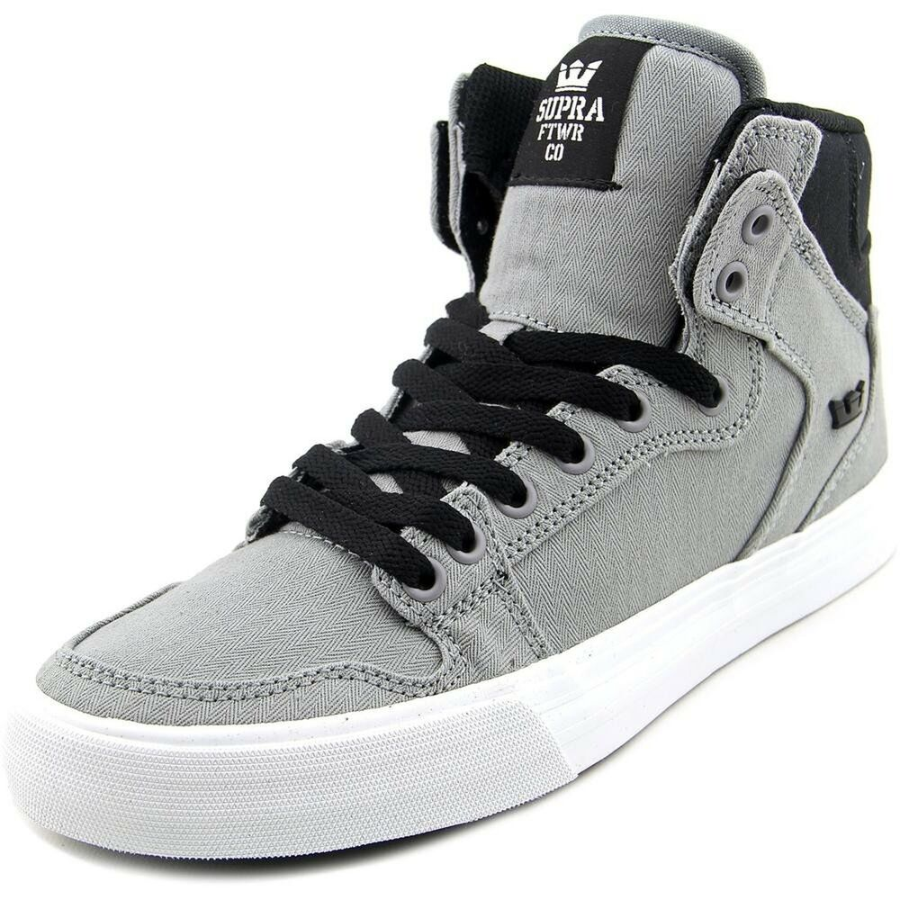 Details about Supra Unisex Vaider Grey Black White Sneaker Men s 8 65922e28d5