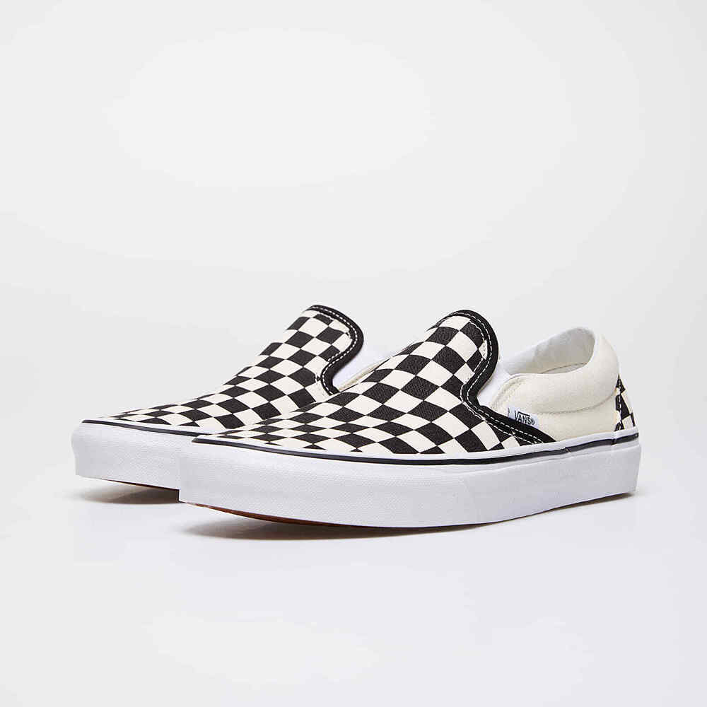 a20d05464765 Details about VANS ADULT UNISEX CLASSIC SLIP-ON SHOES BLACK   WHITE  CHECKERBOARD WHITE