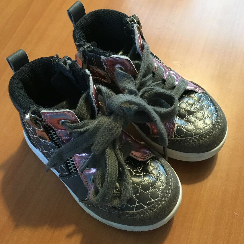c366ea776904 Details about GEORGE BABY GIRLS SNEAKERS SIZE 5 STAR