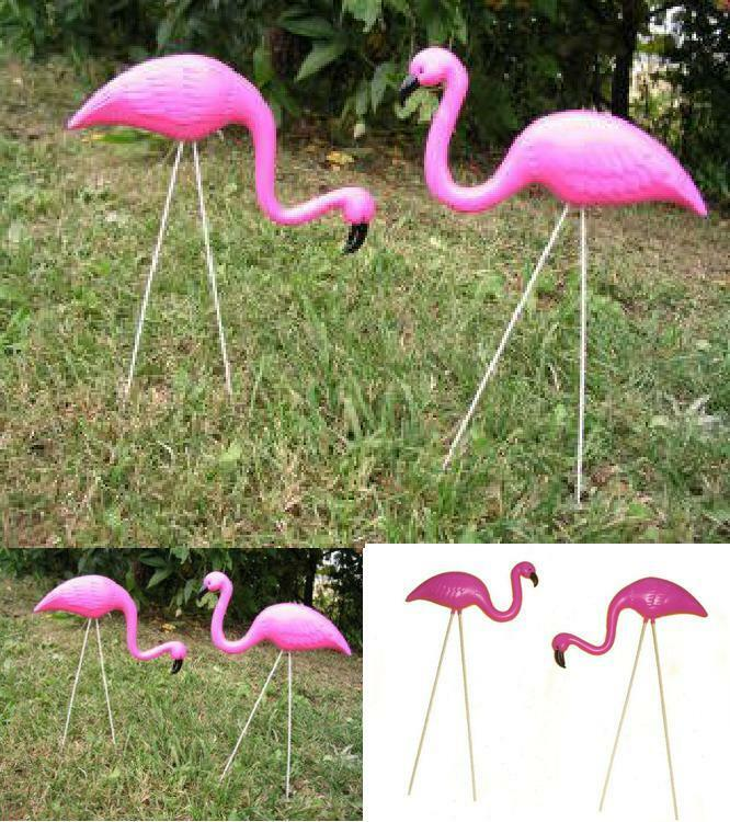 Details About Plastic Pink Flamingo Lawn Decor Garden Yard Outdoor Wedding Art Ornament Statue