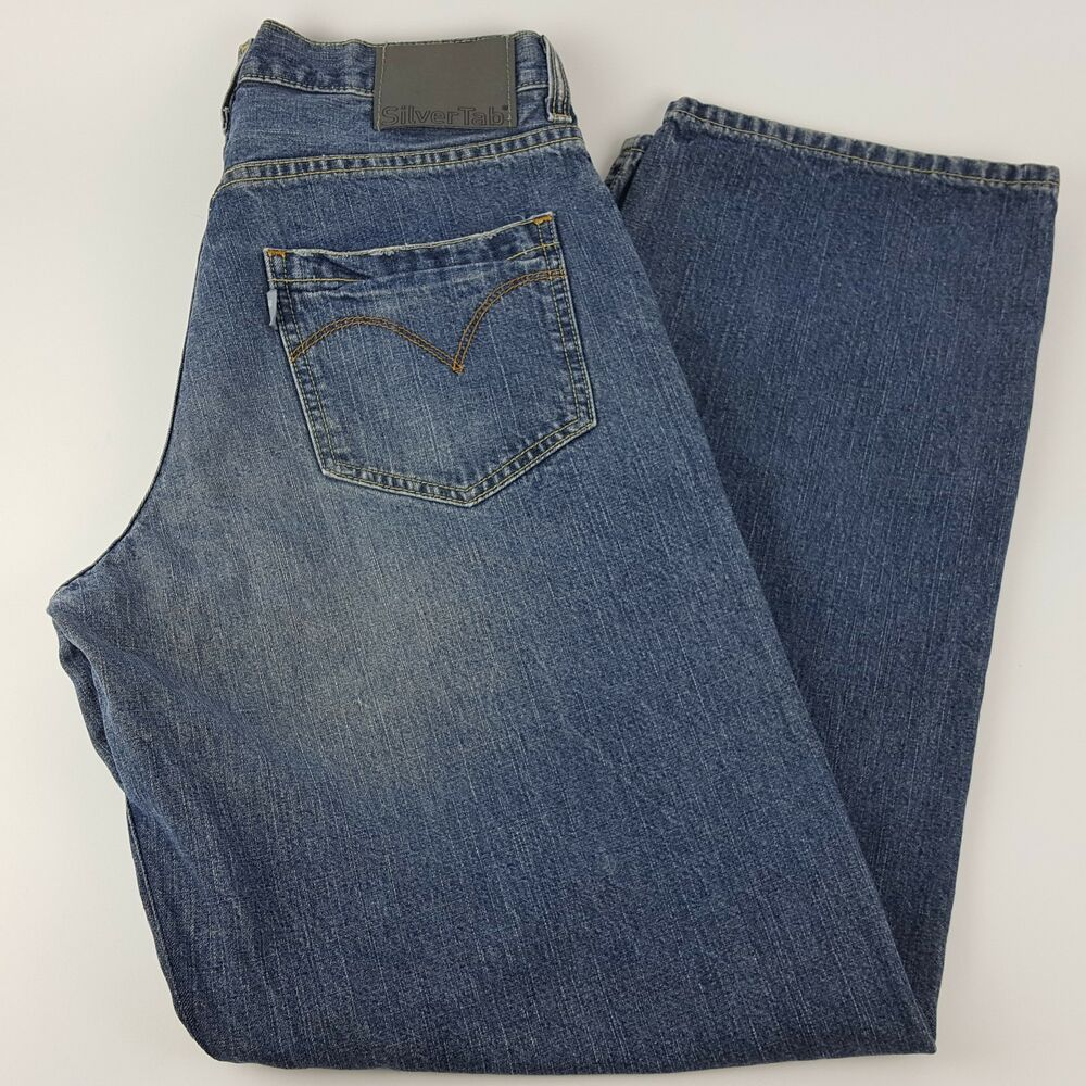 543257be3fd Details about Vintage 90's Men's Levi's Silver Tab Size 31 x 32 Baggy Fit Blue  Jeans (31 x 31)
