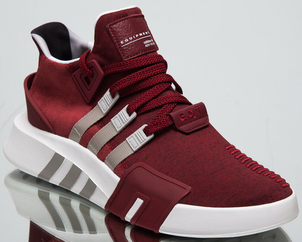 44347b29a99d Details about adidas Originals EQT Basketball ADV New Men s Lifestyle Shoes  Maroon Grey B37515