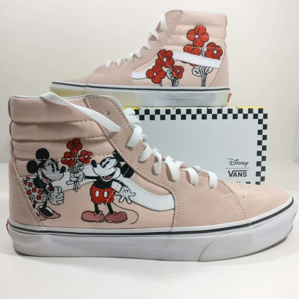 Details about Womens Vans x Disney Sk8-Hi Mickey   Minnie Pink Shoes  Sneakers Multi Size 34003d80f56b3