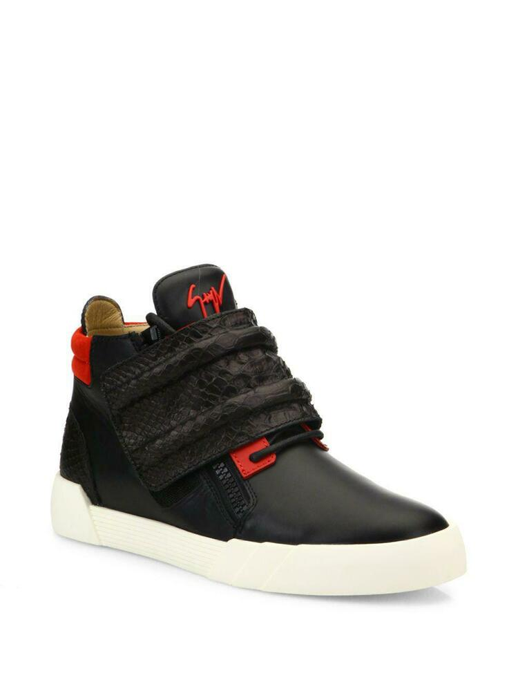 6840c1fd2790a Details about NEW GIUSEPPE ZANOTTI Crocodile Strapped High Top Leather  Sneakers (Size 40)-$795