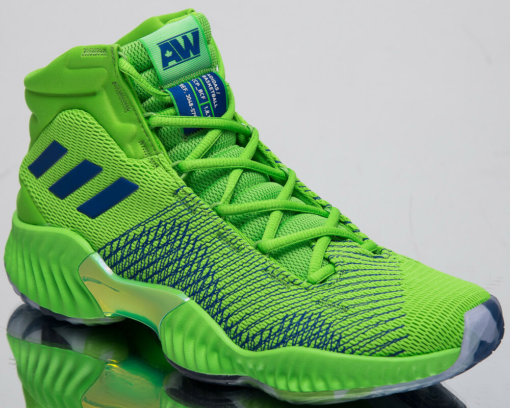 d9254be291d41 Details about adidas Pro Bounce 2018 Andrew Wiggins Men s New Green  Basketball Sneakers B41856