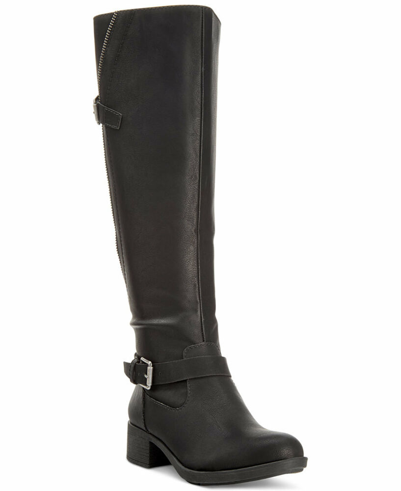 a76cf72429a8 Details about Style co. Women s Gayge Wide Calf Riding Boots