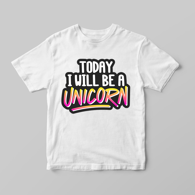 d9fe01eee Details about Today I Will Be A Unicorn Cute Funny Girls Children's Kids T  Shirts T-Shirt Top