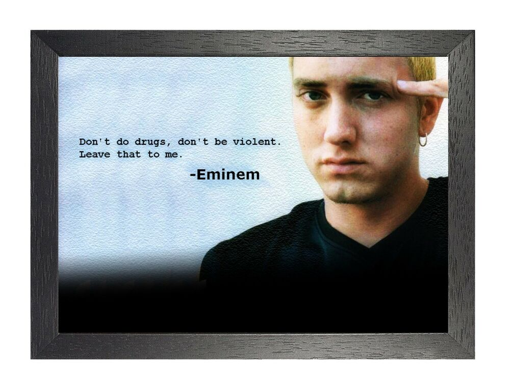 Eminem 2 Photo Gangster Quote Rap Hip Hop Singer Picture Celebrity