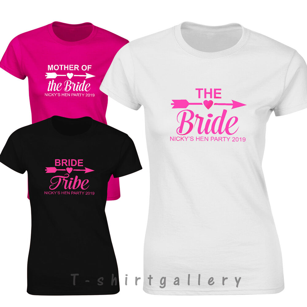 b178535b1ac Details about Hen T Shirts Hen Do Party Night Bride T-Shirt Custom Ladies Personalised  Tops