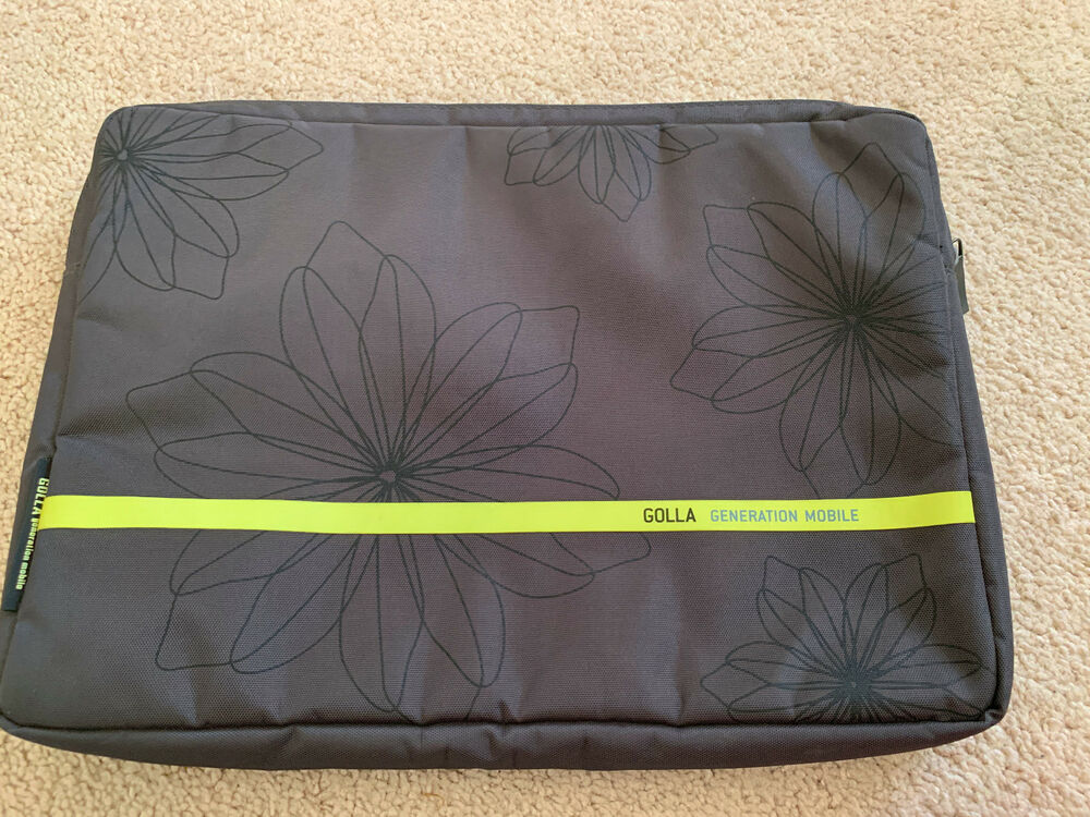 golla generation mobile  GOLLA GENERATION MOBILE Padded Zip Laptop Base Case, Gray Yellow ...