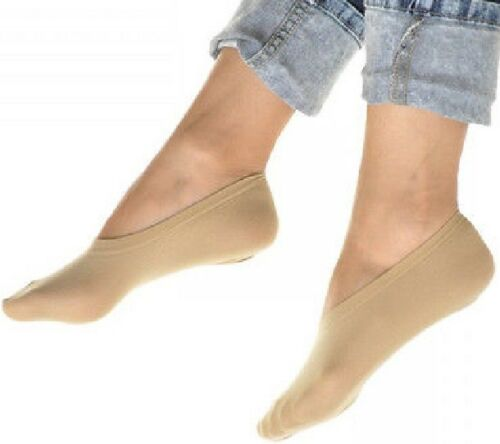 Peds Nylon Socks No Show Footies Women Shoes Boat Beige 10 Pairs Stretch Liner