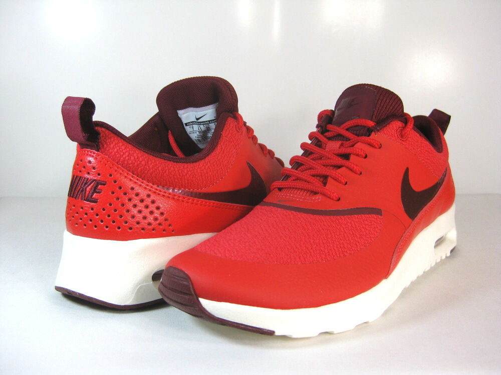 super popular 8f3bb 6a50d NIKE WMNS AIR MAX THEA Action Red Team Red-Sail -599409 603- ATHLETIC   eBay