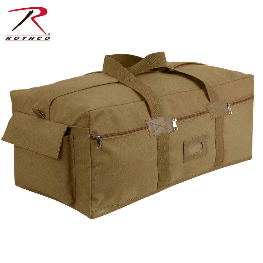 be1157c320 Details about Coyote Brown Canvas Israeli Type Duffle Bag - Extra Large  Military Army Gear Bag