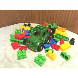 Kyпить 75 Lot MEGA BLOKS FIRST BUILDERS TRACTOR JOHN DEERE Toy Building Blocks на еВаy.соm