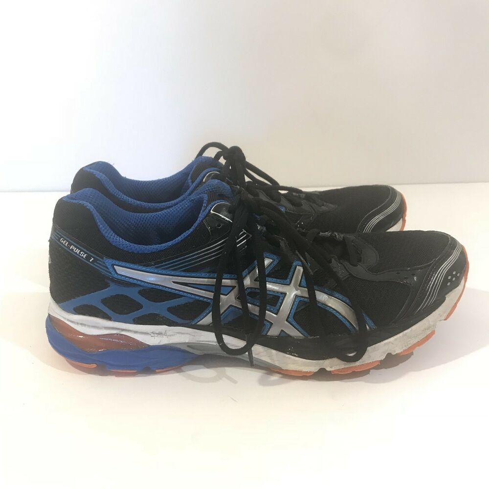 1bf12e71b915 Details about ASICS T5F1Q GEL-PULSE 7 Mens sz 10 M 44 Running Shoes Black  Electric Blue