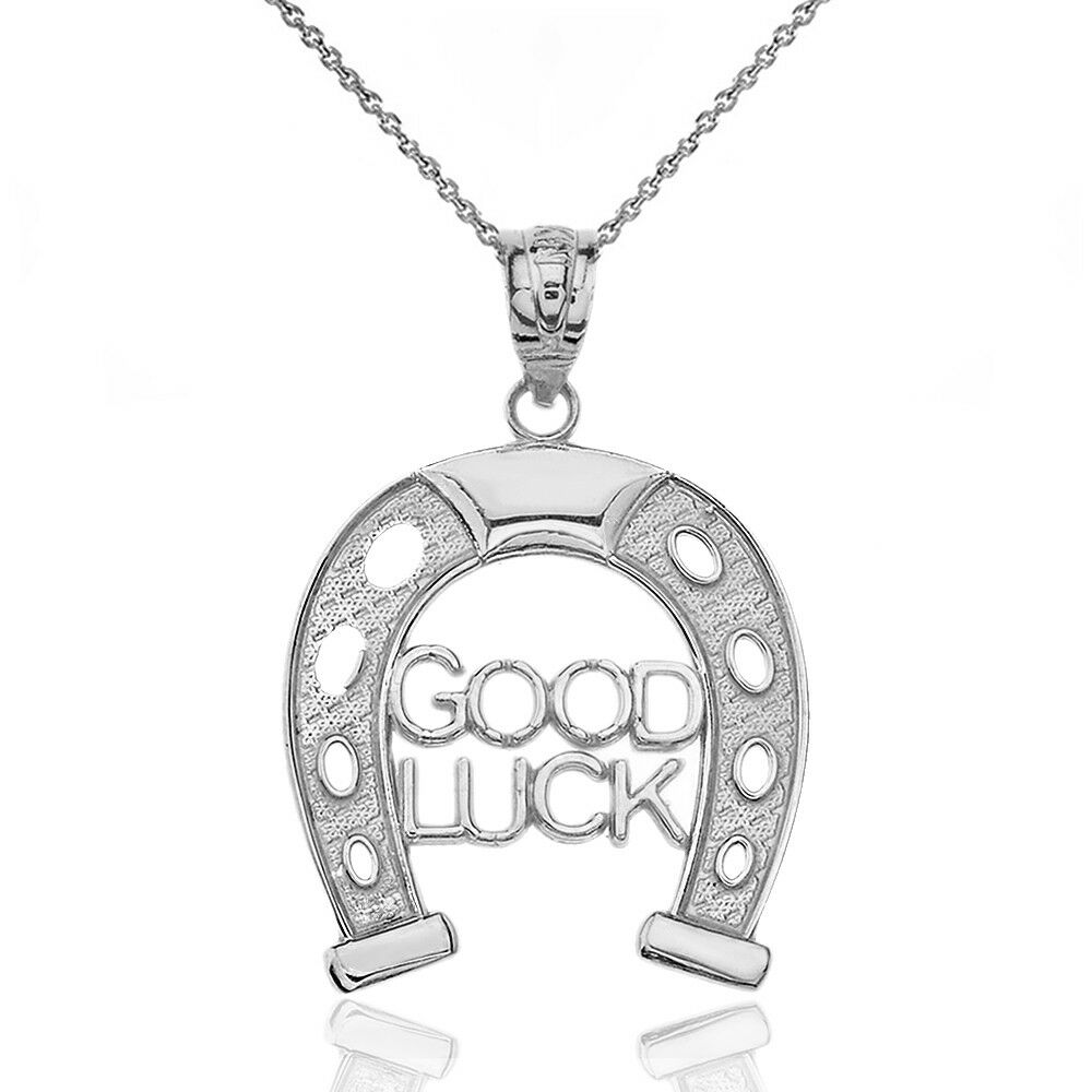 Other Wedding Jewelry New Sterling Silver .925 Horse Horseshoe Pendant Charm For Sale