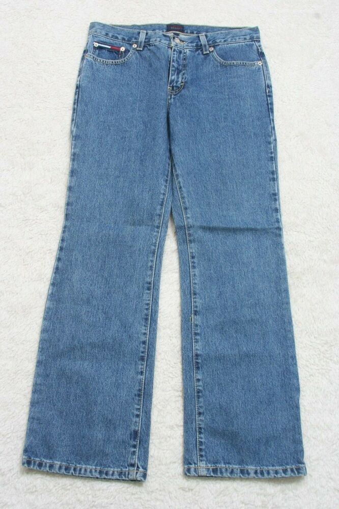 cd448a4e Details about Tommy Hilfiger Jeans Pants Blue Denim Cotton Nine 9 31
