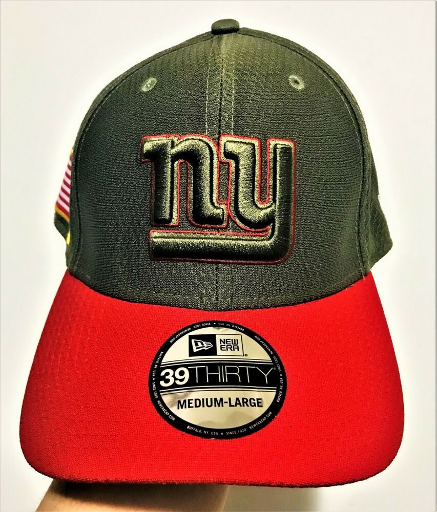 073a84ff532 Details about New Era New York Giants 39THIRTY NFL 2017 Salute To Service  Sideline Hat M L