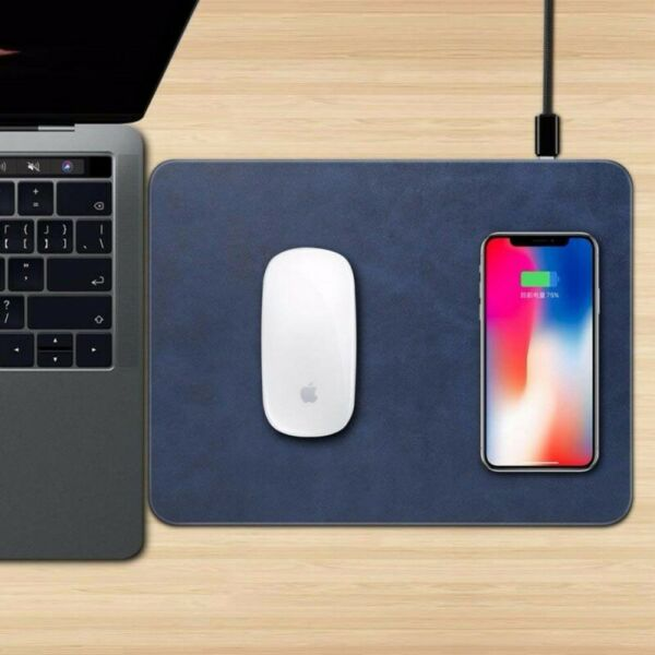 MOUSE PAD TAPPETINO RICARICA WIRELESS CARICA SENZA FILI QI PER IPHONE X 8 IOS
