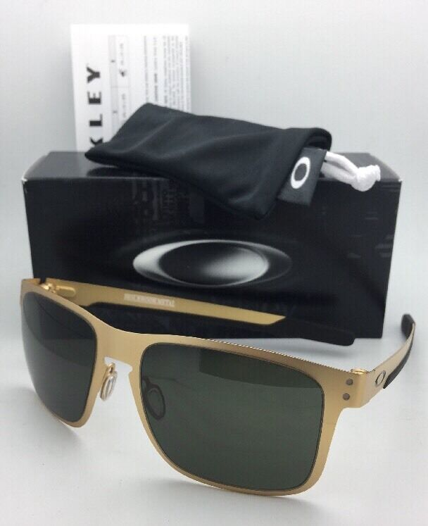 3dd1e8990a13d New Oakley Sunglasses HOLBROOK METAL OO4123-08 Satin Gold Frame with Grey  Lenses 888392269812