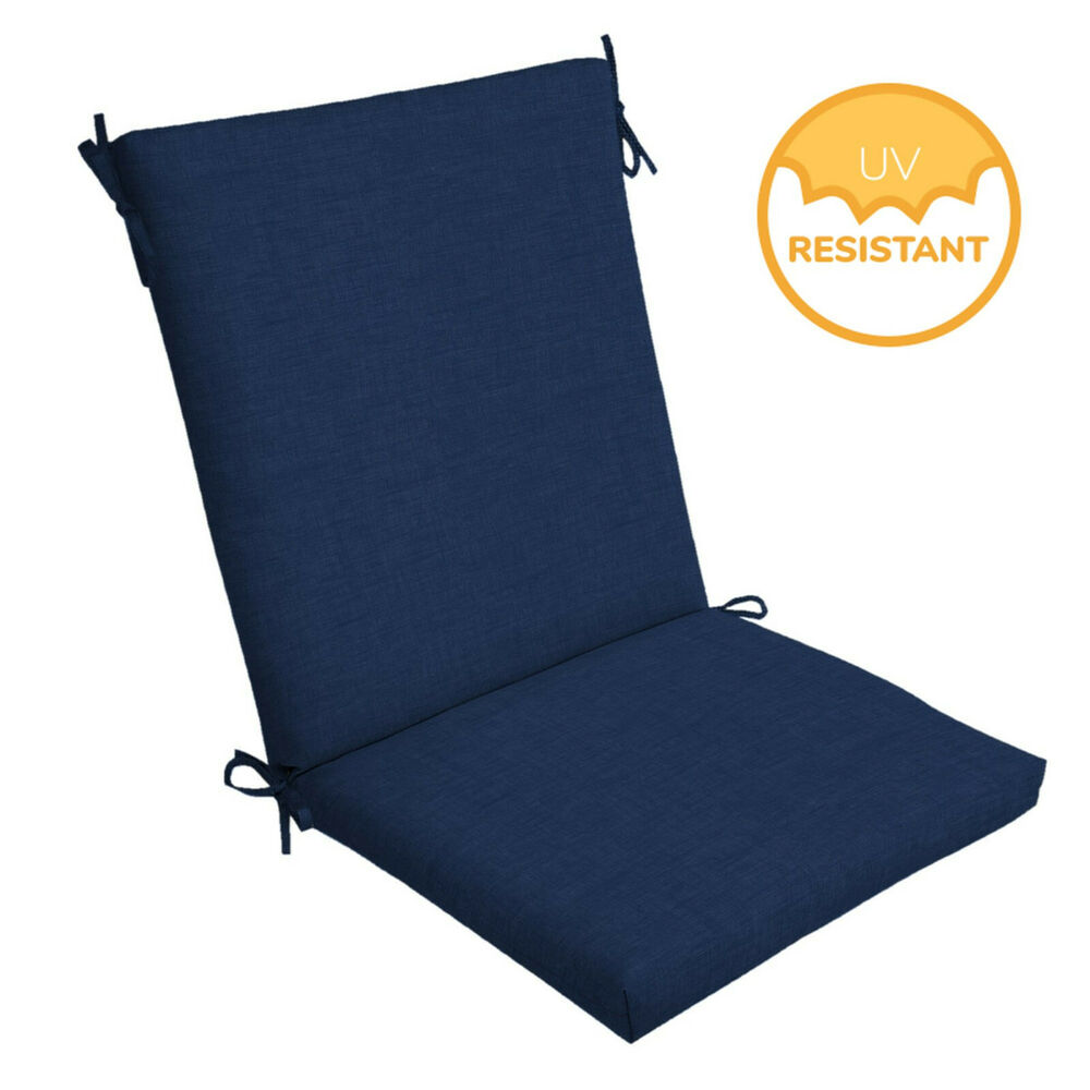 Details About Outdoor Deep Seat Chair Patio Cushions Set Blue Pad Uv Resistant Porch Furniture