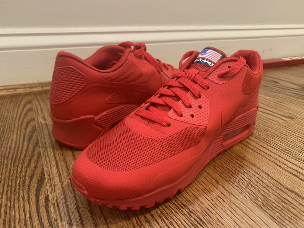 """quality design 2a935 95e01 Details about Nike Air Max 90 Hyperfuse QS """"Independence Day - Red"""" Size 10  in DS Condition"""