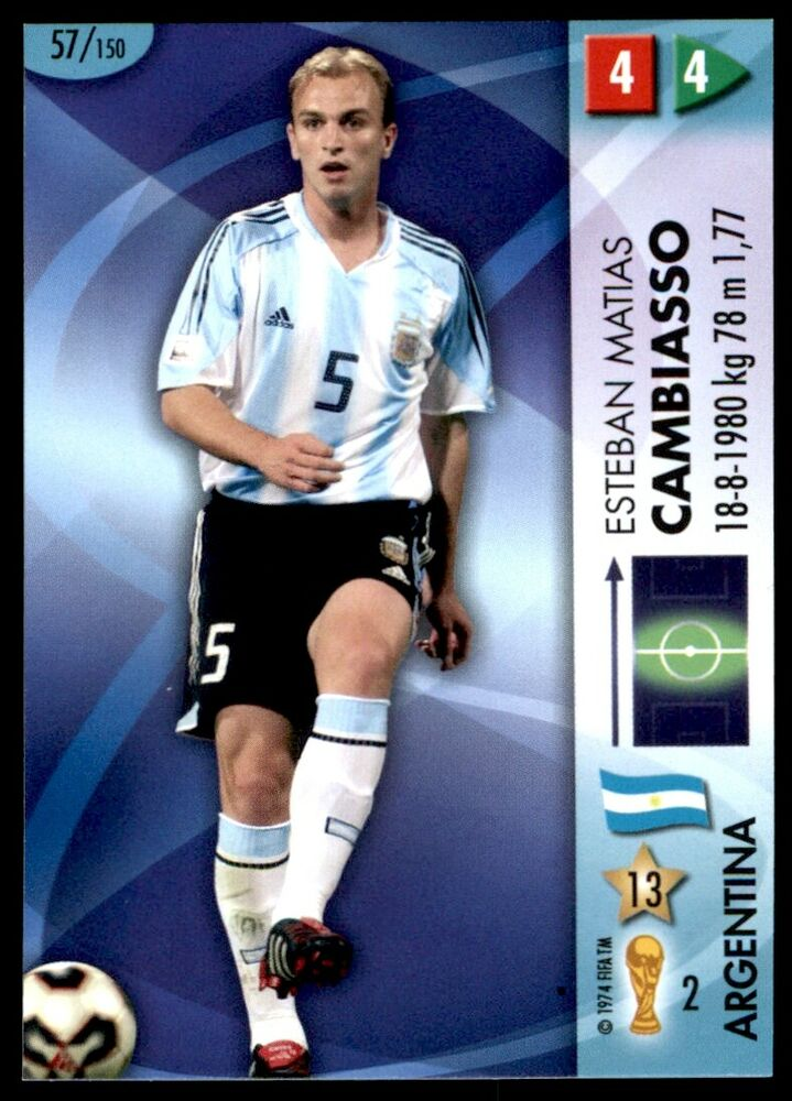 e33f8fe2624 Details about Panini World Cup 2006 Card - Cambiasso Argentina  (Midfielders) No. 57