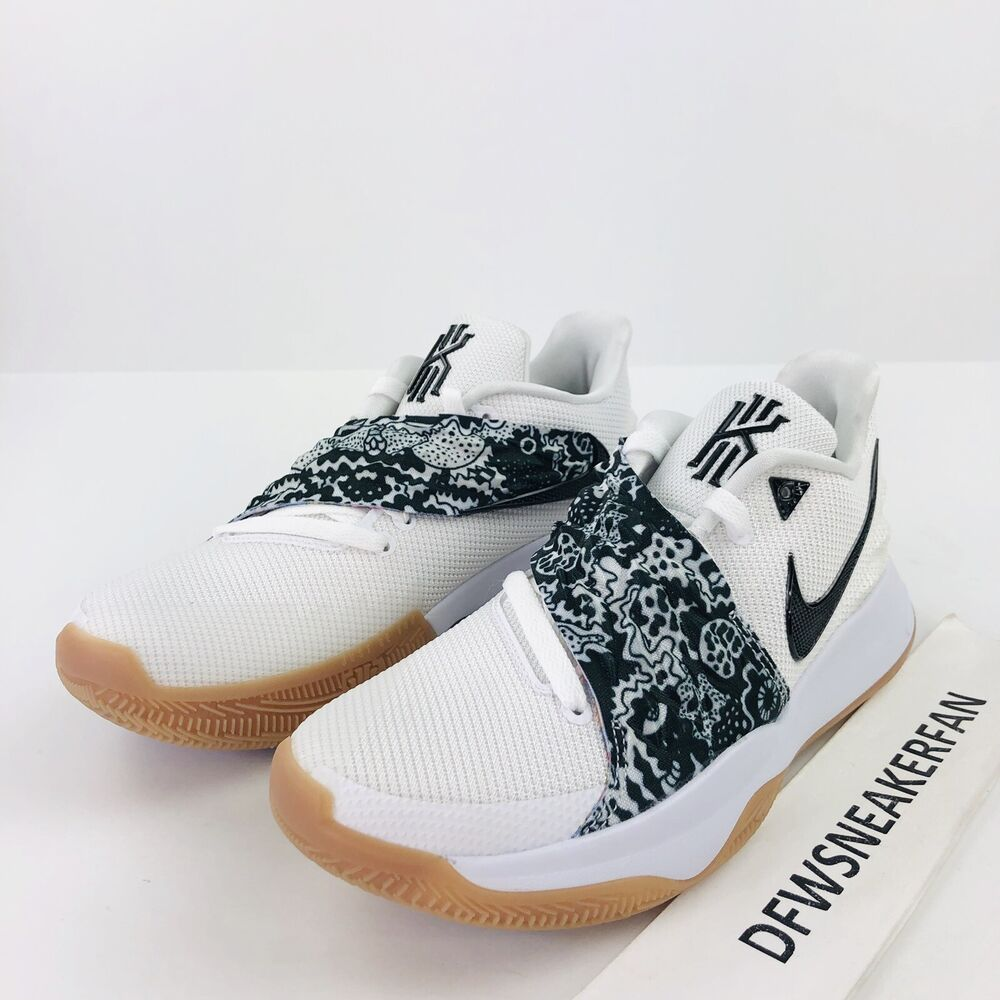 Details about Nike Kyrie 4 Low Men sz 11.5 White Black AO8979-100  Basketball Shoes Irving New dcaf30f1f