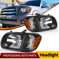Kyпить for 2005 2006 Toyota Tundra 05-07 Sequoia Headlights Headlamps+Corner Lamps PAIR на еВаy.соm