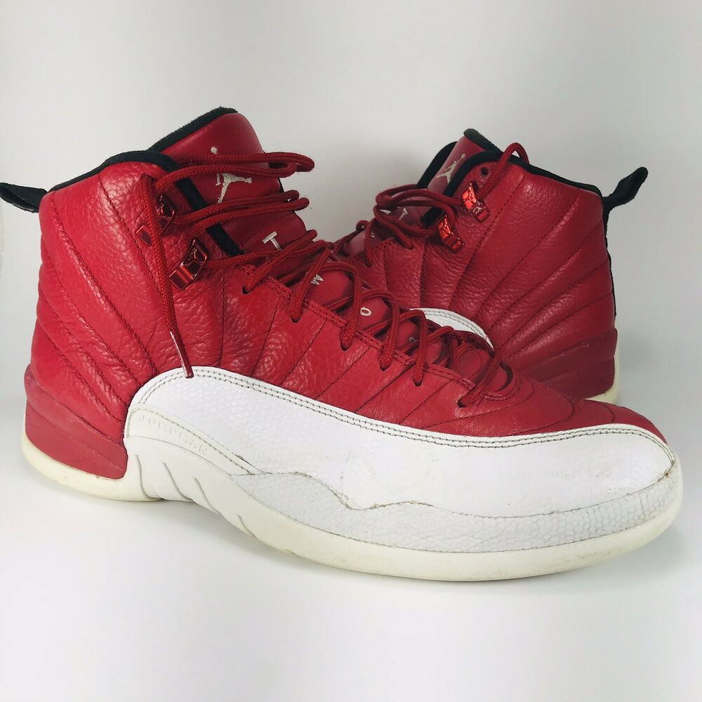 283168f522b Details about Air Jordan 12 XII Retro Gym Red White 130690-600 Size 12  Basketball Alternate