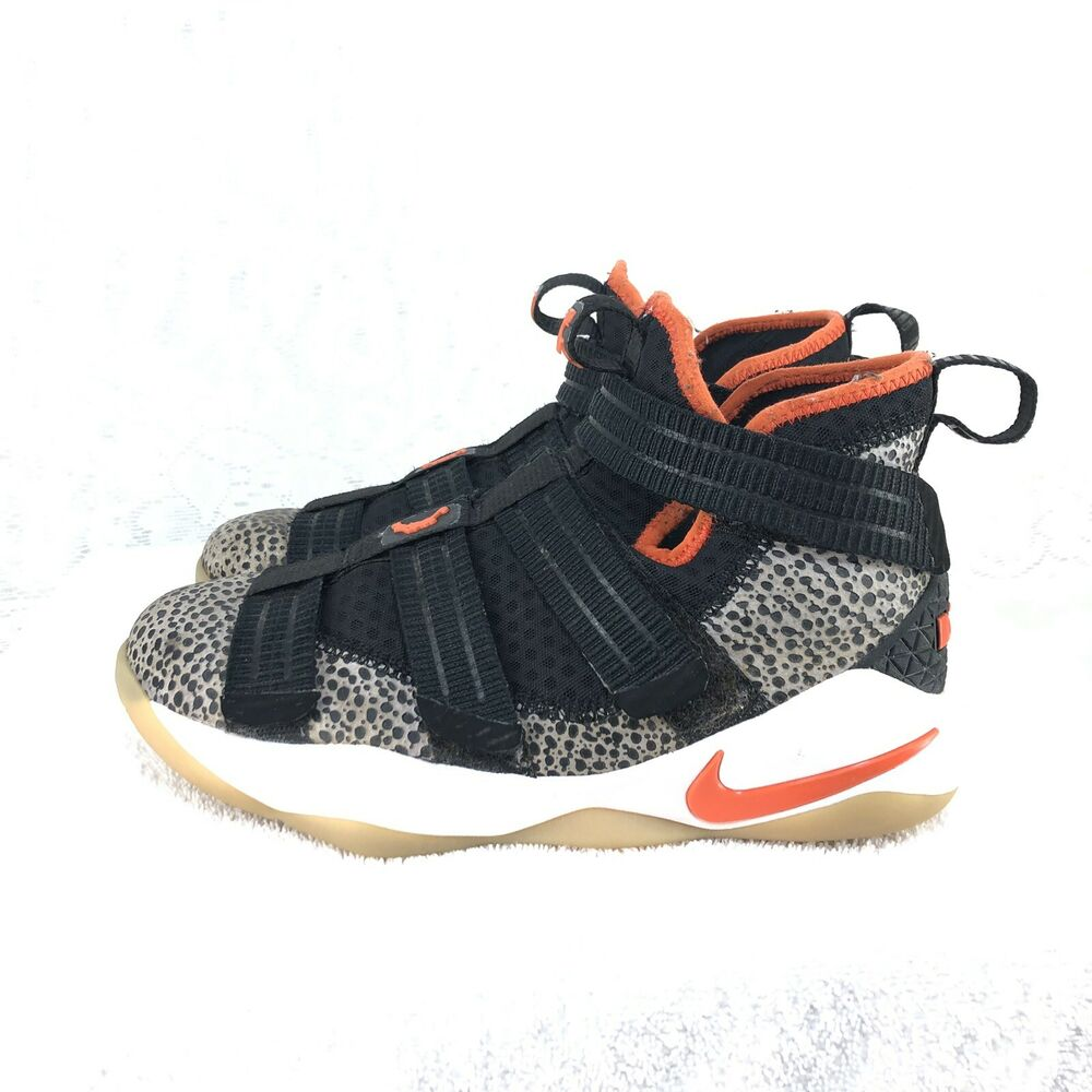 new products 91c4d ca3a5 Details about A2 Nike Lebron Soldier XI SFG (GS) Safari Black Team Orange  AJ5123-006 Size 4.5Y