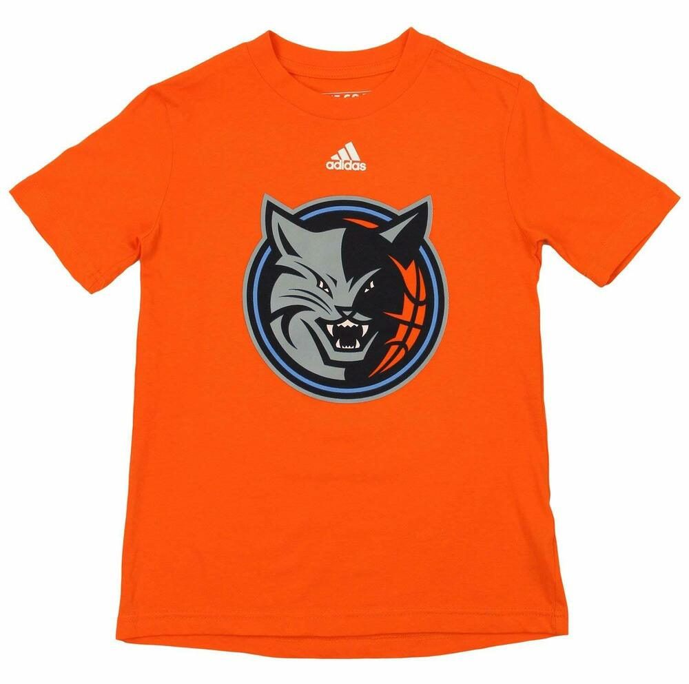 6aa56e092 Adidas NBA Youth Charlotte Bobcats Short Sleeve Primary Logo Tee ...